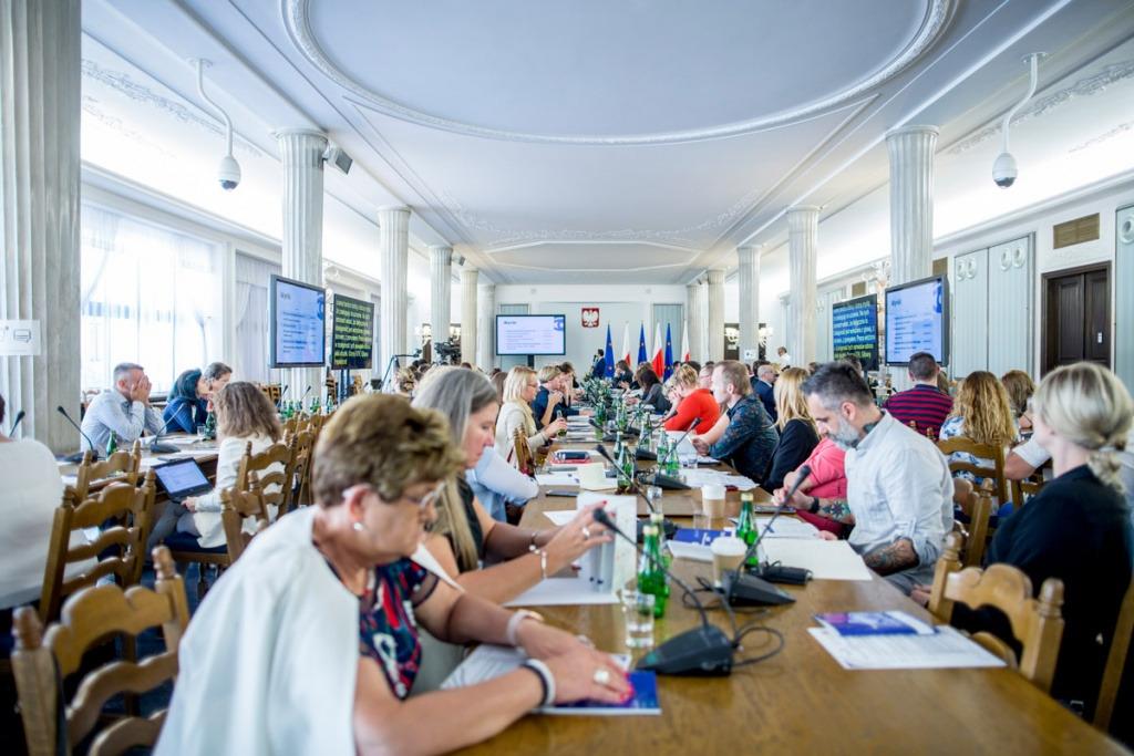Uczestnicy Konferencji w Sali Komlumnowej Sejmu RP (2019 r.)